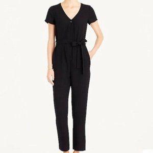 J Crew Mercantile Black Jumpsuit Button Closure 14